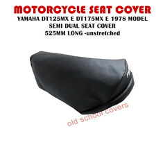MOTORCYCLE SEAT COVER YAMAHA DT125 MX  E DT175 MX E 1978 model SEMI DUAL  525mm