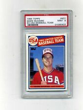 1985 Topps PSA 9 #401 Mark McGwire Rookie-Centered and Sharp!