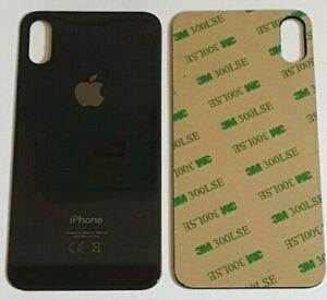 IPhone XS MAX Akkudeckel Backcover Rückseite aus Glas Space Grau Schwarz