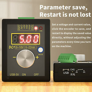 SG 002 Handheld Signalgenerator Quellen Stromgenerator 0 10V 4 20mA