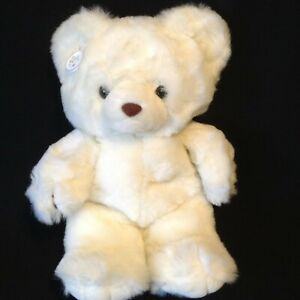"Russ Berrie Plush Snowden Teddy Bear White 15"" Original Hang Tag #843 Korea"