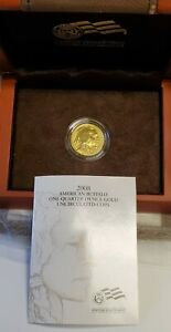 2008-W 1/4 oz Burnished American Gold Buffalo w/Box & COA (OGP)