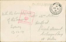 Mrs Macmillan. Hertford, Beech Mount, Colwyn Bay.  Sydney WW1 Soldier   RH.605