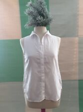 CLOTH & STONE ANTHROPOLOGIE White shirt size Small buttons vents hi low