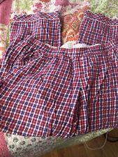 Victoria Secret Plaid Pajama Pants Red and  purple , Size Xl,