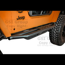 NEw Rock Crawler Side Armor Rocker Slider Guard+Step for 97-06 Jeep Wrangler TJ