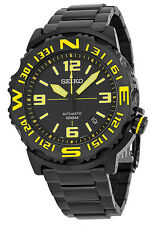 Seiko 5 Sports SRP449 Men's Superior Black Ion Plated Black Dial Automatic Watch