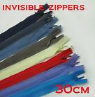 - New - Invisible Nylon Fashion Dress Zip / Zipper 30cm Closed End