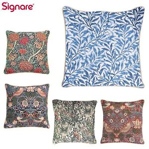 Tapestry Pillowcase Cushion Cover William Morris Floral Design