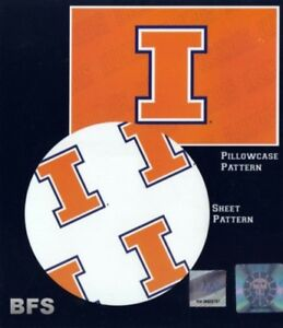 University of Illinois Illini NCAA (Extra long) Twin Sheet Set with Pillow Case