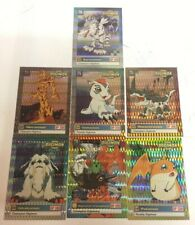 Lot Of 7 Digimon Trading Cards 1999 Bandai Champion Digimon Hologram Rare