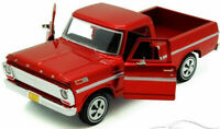 FORD F100 PICK UP 1969 1:24 Scale Diecast Toy Car Model Die Cast Truck Red
