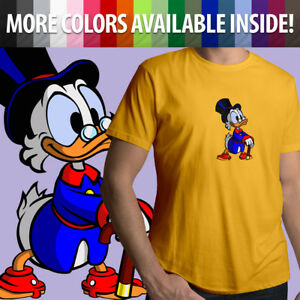 Unisex Graphics Tee T-Shirt Gift Scrooge McDuck Duck Tales Cartoon Rich Duck
