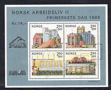Noruega Hojita bloque del año 1986 (BZ-372)
