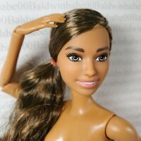 (E60~ NUDE BARBIE BRUNETTE ARTICULATED OLYMPIC TOKYO 2020 SOFTBALL DOLL FOR OOAK