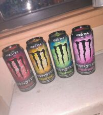 VERY RARE! Monster Energy Rehab ICED TEA designs! SKU 0614 Full 15.5 oz Cans!