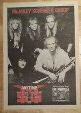 McAuley Schenker group MSG  1990  press advert Full page 27 x 38 cm mini poster