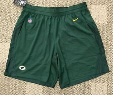 Nike Mens Knit Athletic Football Shorts NFL Green Bay Packers L Large 906124