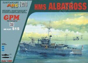 HMS ALBATROSS 1:200 scale PAPER-CARD model kit (with lasercut frame set)