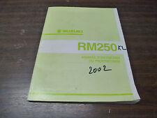 MANUEL REVUE TECHNIQUE D ATELIER SUZUKI RM 250 RM250 2002 K2 ENTRETIEN