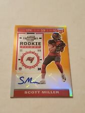 2019 Panini Contenders Optic Scott Miller Rookie Ticket Gold Prizm Auto 41/50!!!