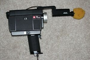 Vintage GAF XL Sound Super 8 Cine Camera with Chinon MB-030 Microphone
