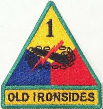 Army 1st Armored Division Military OLD IRONSIDES Tactical Emblem  Iron-On Patch