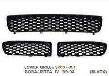 HONEYCOMB BUMPER GRILLE MESH COVERS GTi STYLE BLACK RARE - 3 PC SET for VW BORA