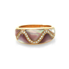 Kabana Mother-of-Pearl and Pave Diamond Ring in 14K Rose Gold | FJ