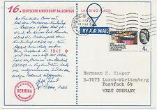 2467 1965 16th German Balloonpost-Flight, landed in Moreton-in-Marsh, Glos., R!