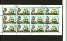 LIBERIA POSTAGE SHEET - FAMOUS SAILING SHIPS - ROYAL ADELAIDE - USED 15c STAMPS