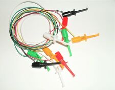5 Minigrabber IC clip test leads in five colors
