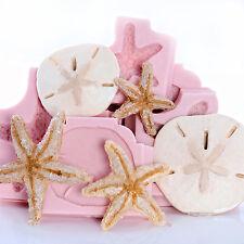 Starfish and Sand Dollar Silicone Mold Set Food Safe Fondant Craft Mold (253)