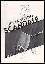Publicité SCANDALE gaine corset lingerie femme vintage ad 1936 -1i