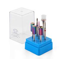 Tungsten Carbide Diamond Ceramic Nail Drill Bits Set 7Pcs Acrylic Nail File New