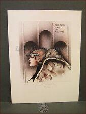 EROTICA - Ex-Libris Originale a Colori Firmato, Collezione Mario De Filippis
