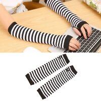 Long Sleeve Womens Fingerless Winter Knitted Wrist Arm Warmers ladies Gloves Hot