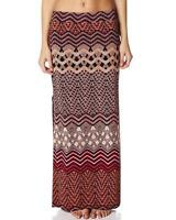 New TIGERLILY Laharia Ethnic Print Jersey Side Split Boho Maxi Skirt Fits 10/12