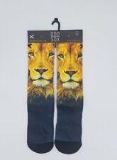Odd Sox Lion Crew Socks Men's Sock Sz 6-13 Novelty Socks Brand New