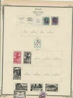 spain stamps page ref 17124