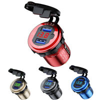 Dual USB QC3.0 Charger Socket Waterproof Fast Car Boat Charger Power Adapter 24V