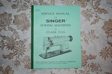 Singer Sewing Machine 211G Service Manual CD. Also for 111G 111W 211U 211W 411U