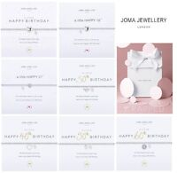 Joma Jewellery - Silver Plated Happy Birthday Bracelets - Beautiful Gift Bag