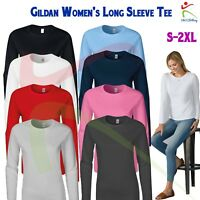 GILDAN Softstyle Women's Long Sleeve T-Shirt Ladies Fitted Tee Soft Jersey T TOP