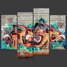 GRAFFITI CANVAS WALL ART PICTURES PRINTS LARGER SIZES AVAILABLE
