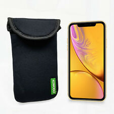 Komodo Apple iPhone XR Neoprene Case Sock Phone Pouch Smartphone Cover Black New