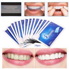 28Pcs 14Pair 3D Teeth White Gel Teeths Whitening Strips Dental Bleaching Tools