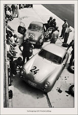 Nurburgring 1950's Porsche's pitting`Vintage Photograph A2