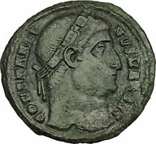 Constantine I The Great 327AD Ancient Roman Coin Soldier with shield i39982 RARE