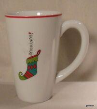 "Fitz and Floyd Essentials Merry Christmas Mug ""Stockings""  5.25"""
